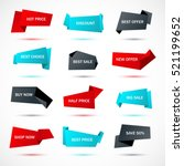vector stickers  price tag ... | Shutterstock .eps vector #521199652