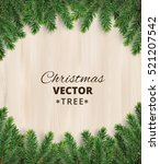 christmas tree branches on... | Shutterstock .eps vector #521207542