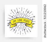 joy love peace. merry christmas ... | Shutterstock .eps vector #521210062