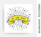 joy love peace. merry christmas ... | Shutterstock .eps vector #521210062
