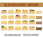 vector crates with fresh fruits ... | Shutterstock .eps vector #521214442