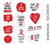world aids day 1 december... | Shutterstock .eps vector #521219155