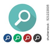 magnifying glass icon flat...   Shutterstock .eps vector #521222035