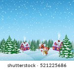 baground christmas with snowman | Shutterstock . vector #521225686