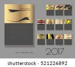 year 2017 vector calendar. each ... | Shutterstock .eps vector #521226892