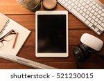 mockup tablet similar to ipad...   Shutterstock . vector #521230015