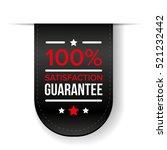 satisfaction guaranteed black... | Shutterstock .eps vector #521232442