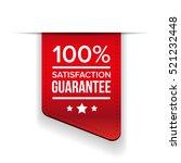 satisfaction guaranteed black... | Shutterstock .eps vector #521232448