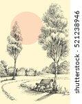 garden artistic drawing  an... | Shutterstock .eps vector #521238946