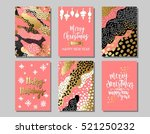 set of merry christmas and... | Shutterstock .eps vector #521250232