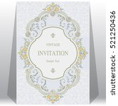 wedding invitation or card with ... | Shutterstock .eps vector #521250436