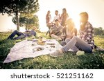 group of friends having fun... | Shutterstock . vector #521251162