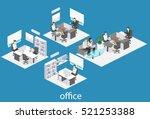 isometric interior of director... | Shutterstock .eps vector #521253388
