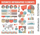 big set of business infographic ... | Shutterstock .eps vector #521254948