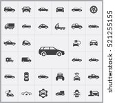 car icons universal set for web ... | Shutterstock .eps vector #521255155