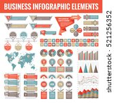big set of business infographic ... | Shutterstock .eps vector #521256352