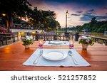 close up of outdoor restaurant... | Shutterstock . vector #521257852