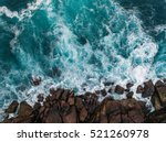 aerial view of ocean waves and... | Shutterstock . vector #521260978