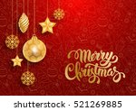 festive christmas luxury design ... | Shutterstock .eps vector #521269885