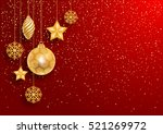 festive christmas red... | Shutterstock .eps vector #521269972