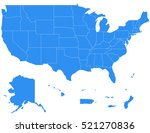 vector map usa territories... | Shutterstock .eps vector #521270836