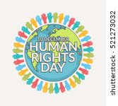 human rights day poster or... | Shutterstock .eps vector #521273032