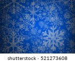 blue christmas background and... | Shutterstock .eps vector #521273608