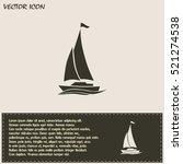 yacht vector icon   Shutterstock .eps vector #521274538