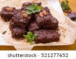 pile of  homemade chocolate... | Shutterstock . vector #521277652