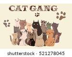cat gang | Shutterstock .eps vector #521278045