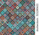 colorful vintage seamless... | Shutterstock .eps vector #521280622