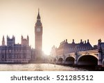 big ben and westminster at... | Shutterstock . vector #521285512