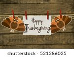 happy thanksgiving card or... | Shutterstock . vector #521286025
