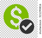 approved payment icon. vector... | Shutterstock .eps vector #521290816