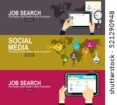 concept of job searching.social ... | Shutterstock .eps vector #521290948