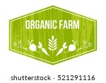 farming logo  organic food in a ... | Shutterstock .eps vector #521291116