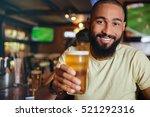 cheerful attractive african... | Shutterstock . vector #521292316