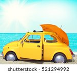 traveling by car for holidays ... | Shutterstock . vector #521294992