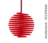christmas ball made of red... | Shutterstock .eps vector #521296366