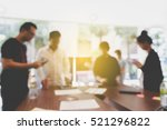 people meeting and working in... | Shutterstock . vector #521296822