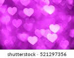 Magenta Heart Bokeh Background...