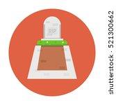 grave flat icon | Shutterstock .eps vector #521300662