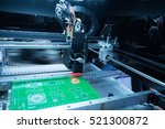 pcb processing on cnc machine... | Shutterstock . vector #521300872
