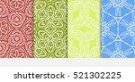 set of ornamental flower design.... | Shutterstock .eps vector #521302225