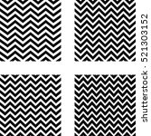 set of seamless zigzag pattern  ... | Shutterstock .eps vector #521303152