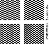 set of seamless zigzag pattern  ... | Shutterstock .eps vector #521303152