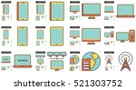 gadgets vector line icon set... | Shutterstock .eps vector #521303752