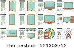 gadgets vector line icon set... | Shutterstock .eps vector #521303752