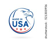 made in usa icon concept badge... | Shutterstock .eps vector #521303956