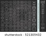 frames mega set on chalkboard.... | Shutterstock .eps vector #521305432